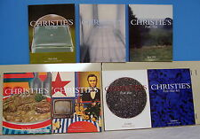 Lot of 7 Post-War Art London and New York Chrisite's Auction Catalogs
