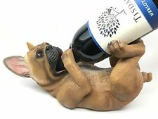 French Bulldog Chien Figural Wine Guzzler Holder Resin Home Decor Collectibles