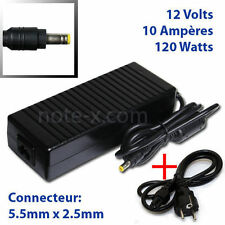 AC 100V-240 To DC 12V10A 120W Adapter Power Supply For Led Lights Strip+Cord