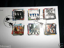 THE BEATLES  OFFICIAL ROYAL MAIL 2007 FIRST DAY COVER SET 6 UK STAMPS MINT CARD