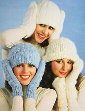 Ladies Hats and Mittens Knitting Pattern (BK024)