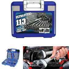 113 Piece Mechanics Tool Set Box Auto Tools Car Repair Kit Wrenches Sockets
