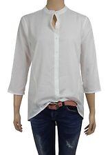 CONLEYS BLACK 3/4 Bluse mit Wasserfall off-white Gr. 42 / XL UVP: 89,95 € (B84)