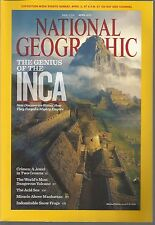 National Geographic April 2011 Inca Genius/Crimea/Most Dangerous Volcano