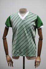 CRISTALLO DDR Maglia Uomo Camicia da giocatore sport shirt True Vintage 70er GDR verde bianco