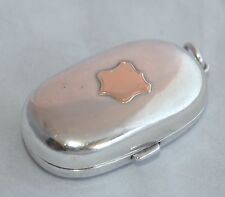 1908 Sterling Silver Double Sovereign Case - Rose Gold Sheild - EJ HOULSTON