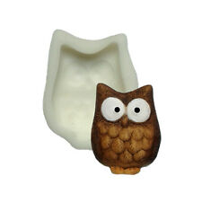 Silicone Mould - Owl - Flat Backed Mini Sculpture - Food Safe