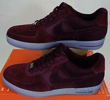 "ULTRA RARE SAMPLE New Mens 9 NIKE ""AF1 Downtown"" Burgundy Suede Shoes 579962-600"