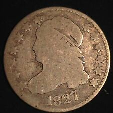 USA 1827 Capped Bust Dime 10 Cent Silber Selten 3489