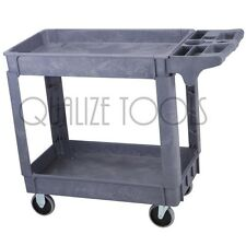 Service Rolling Storage Cart Kitchen Utility Wheeled Shelf 500 Pound