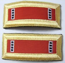 ARMY SHOULDER BOARDS ARTILLERY CORPS CWO4 - PAIR (2) MALE