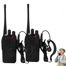 1x Baofeng Walkie Talkie Long Range 2 way Radio UHF 400-470MHZ 16CH Earpiece US