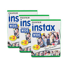 3 Packs 60 Instant Photos Fuji FujiFilm Instax Wide Film Polaroid Camera 200 210