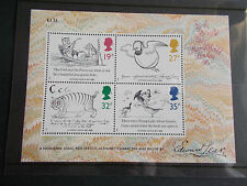GB QEII 1988 Edward Lear Centenary Miniature Sheet Royal Mail Price £1.35 M/N/H