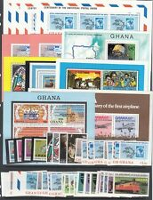 Ghana Scott 512 // 681 Mint NH sets and S/S (Catalog Value approx $57)