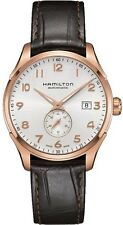 H42575513 Hamilton Maestro Jazzmaster Brown Leather Mens Watch Small Second Auto
