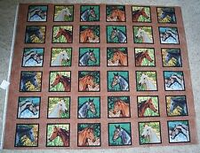 Horses Squares Endless Summer Quilt Panel Fabric 100% Cotton Wildlife Springs