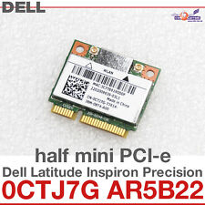 Wi-Fi WLAN WIRELESS CARD NETZWERKKARTE DELL MINI PCI-E 0CTJ7G AR5B22 ATHEROS D37