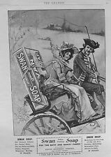 OLD ADVERT SWAN TOILET SOAP PONY & TRAP COSTUME c1901