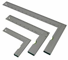 "L SQUARES W/ LEVEL SET 90º RIGHT ANGLE SET - 5"" 8"" 14"" INCH METRIC MEASUREMENTS"