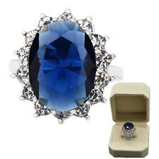 Size 9Fashion Women AAA ZirconJewelry Filled Wedding Engagement Wedding gem Ring
