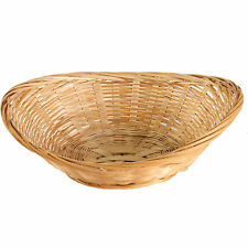 24 x Vintage Oval Natural Bamboo Wicker Bread Basket Storage Hamper Display Tray