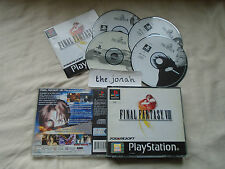 Final Fantasy 8 VIII PS1 (COMPLETE) classic black label Sony PlayStation RPG
