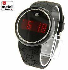 Touch Screen Digital Watch Techno Pave LED BLack Silicone Band