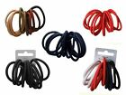 10 Snag Free Endless Hair Elastics Bobbles Hair Bands Various colours