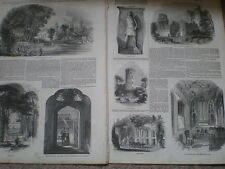 Meeting of British Archaeological society at Warwick 1847 old prints ref S