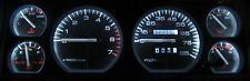 JEEP CHEROKEE XJ 1984 - 1996 WHITE LED SPEEDOMETER, GAUGE & DASH LIGHT KIT