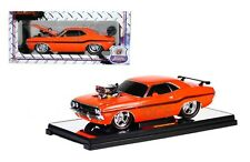 M2 Ground Pounders 1970 Dodge Challenger Orange Limited Edition 300PCS 1/18