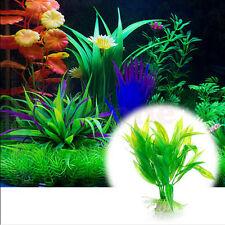 Fish Tank Aquarium Decor Green Artificial Plastic Water Grass Plant  New COH