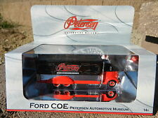 2016 Hot Wheels RED *FORD COE* Delivery Truck *PETERSEN AUTOMOTIVE MUSEUM* NIB