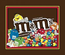 M & M Panel By Springs Industries-Candy-M&M'S-Chocolate-Approx. 1 Yard Panel