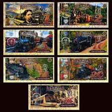POLYMER SET El Club De La Moneda 1;2;5;10;15;20;50 2017  Coffee Railroad, Trains
