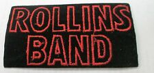 HENRY ROLLINS COLLECTABLE RARE VINTAGE PATCH EMBROIDED 90'S METAL LIVE
