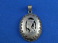 VINTAGE STERLING SILVER EGYPTIAN SHADOW BOX PENDENT