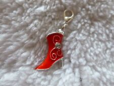 RED BOOT 3D - ENAMEL / ALLOY  HIGH HEEL CLIP ON CHARM....CUTE!!