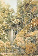 B87877  shanklin chine  i w muriel owen postcard painting  uk