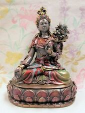 White Tara Buddhist Statue Tibetan Mother Goddess Healer of Suffering #7819