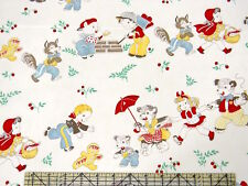 "Moda Retro Story Time & Nursery Rhyme Goldilock Bears Wolf Red Riding 54"" Fabric"