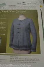Vermont Fiber Designs Knitting Pattern 137 Fluted Fabric Cardigan Up to 6X