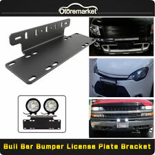 Aluminum Front Bumper License Plate Mount Bracket Holder For LED Work Light Bar