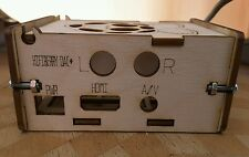 CAJA DIY Raspberry Pi 3 Adaptada para Hifiberry DAC+.Abedul.Enclosure wood case