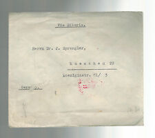 1941 Tientsin China Censored Cover to Munich Germany M Rabben Dr J Sprengler