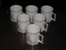 SET OF SIX CLAY CRAFT FINE BONE CHINA TEA/MUG CUPS (INDIA) -- FREE SHIPPING!!!