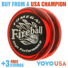 [SPRING SALE] Yomega Fireball Yo-Yo Red / Black Cap + FREE STRINGS