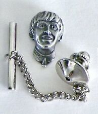"George Harrison Tie Tack Pin & Chain Clasp  "" Beatles """