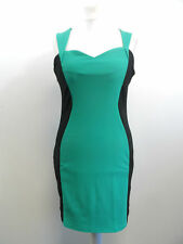 LADIES OUI OUI GREEN & BLACK FITTED DRESS SIZE XL BRAND NEW BOX8326 V